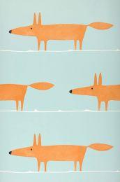 Papel de parede What does the Fox say turquesa pálido