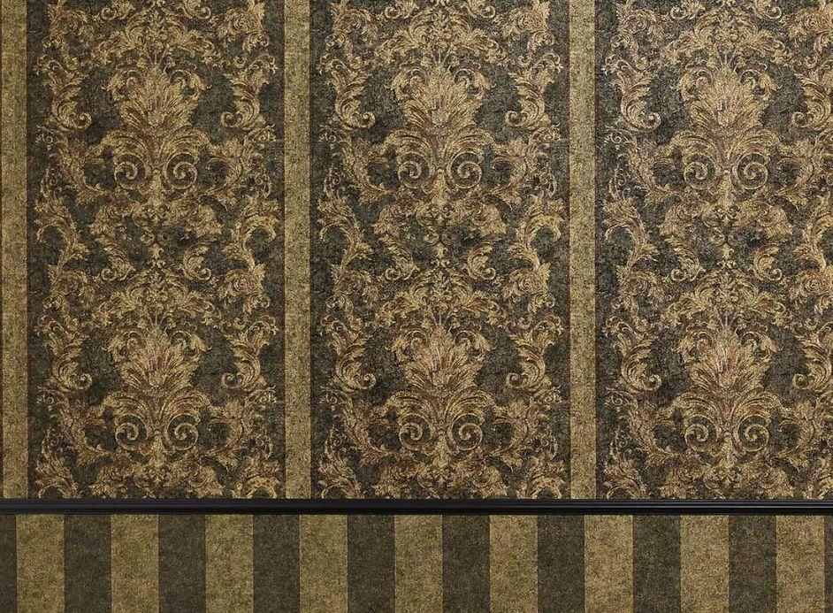 Damask Wallpaper Wallpaper Pezolato sand yellow Room View