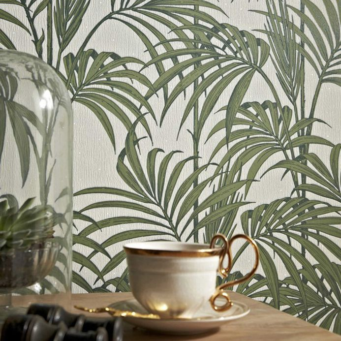Art Nouveau Wallpaper Wallpaper Tatanu pastel green Room View