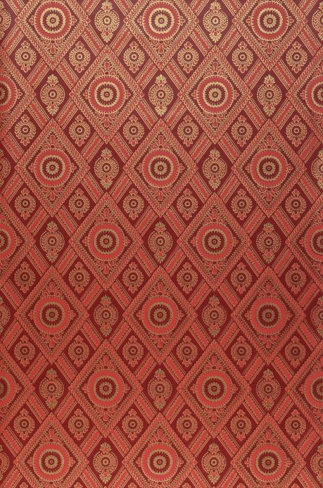Classic Wallpaper Wallpaper William orient red Roll Width