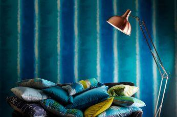 Papel de parede Riconas azul oceano
