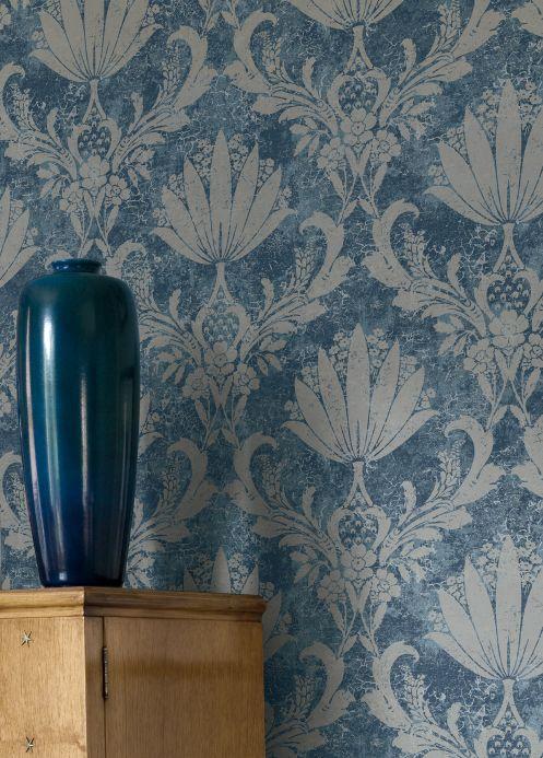 Papier peint baroque Papier peint Dolce tons de bleu Vue pièce