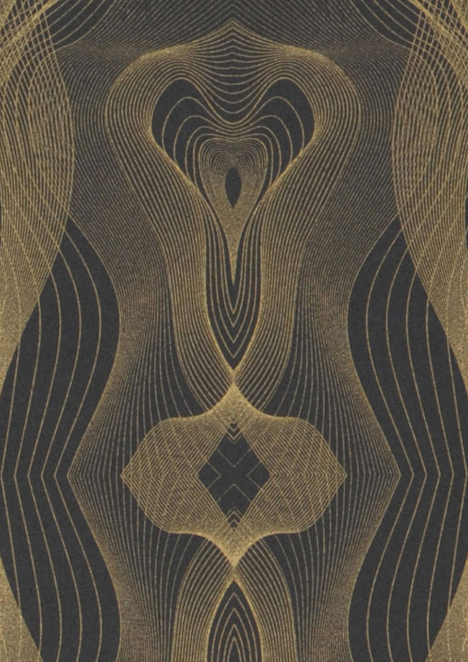 Tapete matuta anthrazit gold schimmer tapeten der 70er for Tapete nach hause