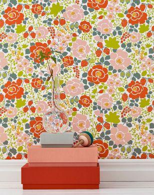 Papel de parede Morgana laranja avermelhado Ver quarto