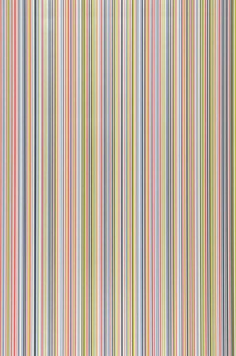 Wallpaper Severin Matt Stripes Dark blue Yellow green Red White White aluminium