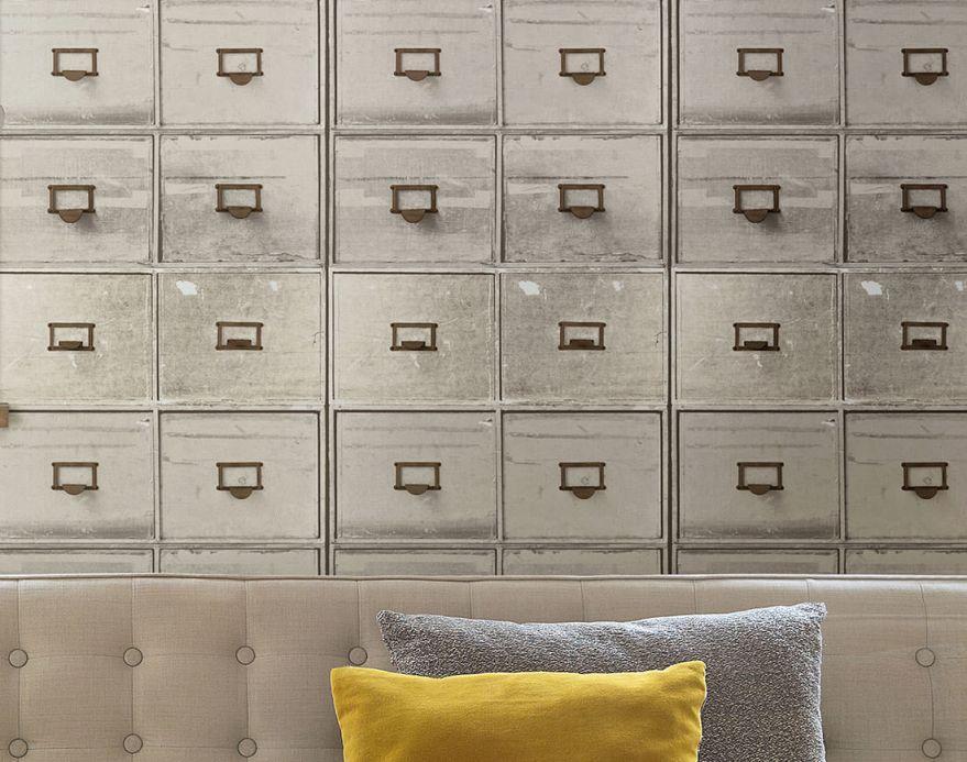 Archiv Carta da parati Lombette bianco grigiastro Visuale camera