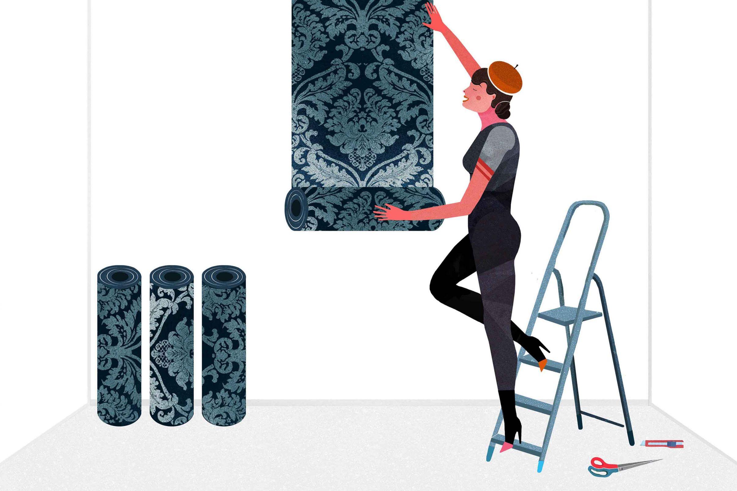 Como-cortar-papel-de-parede-corretamente-Determinar-o-inicio-do-padrao