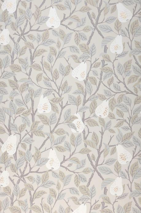 Papier peint botanique Papier peint Estelle blanc gris Bahnbreite