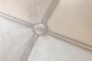 Papel pintado Maratul Brillante Imitación cuero  Beige pálido Blanco crema Beige grisáceo