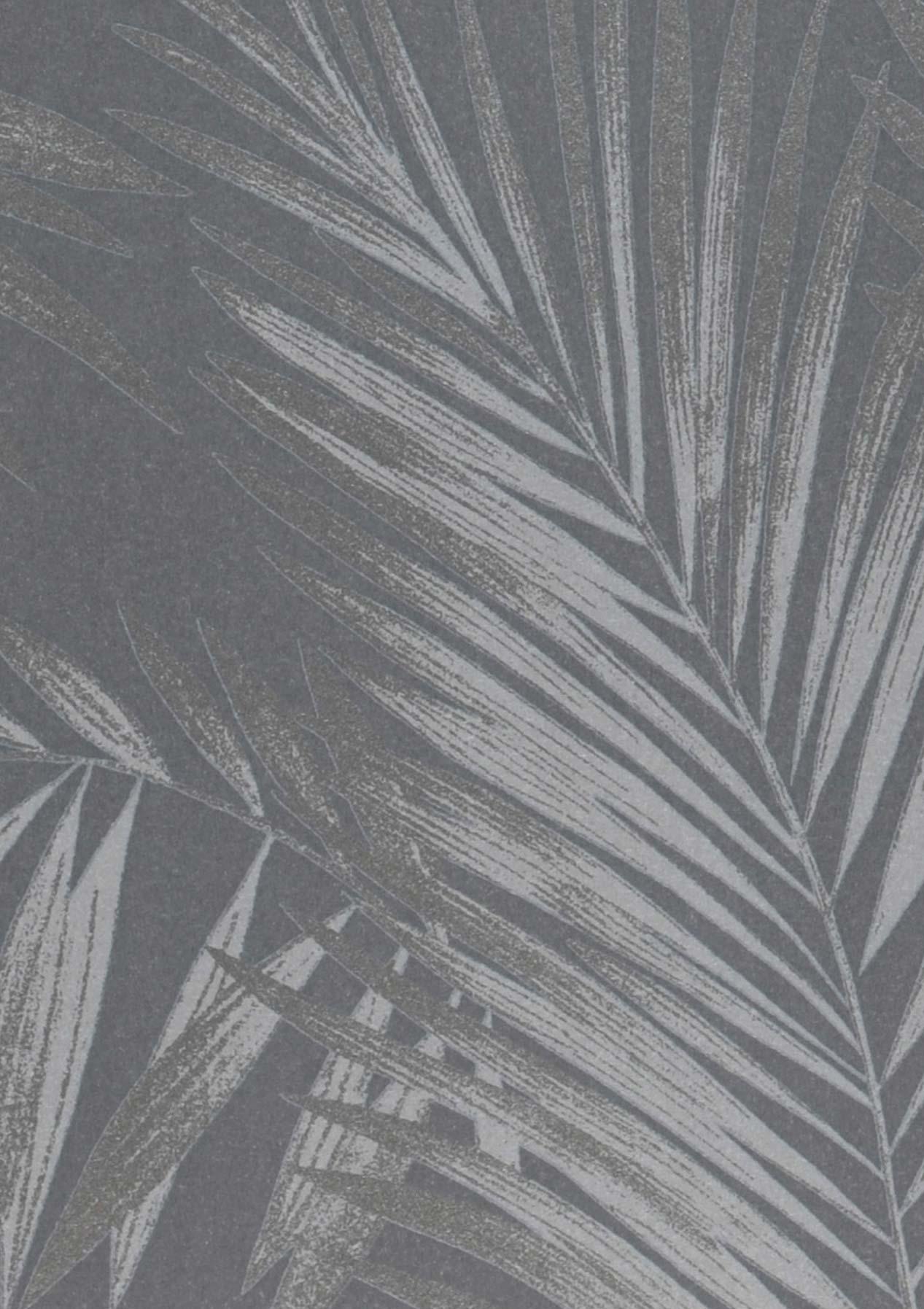Papel pintado aria gris plata brillante gris plateado - Papel pintado plateado ...