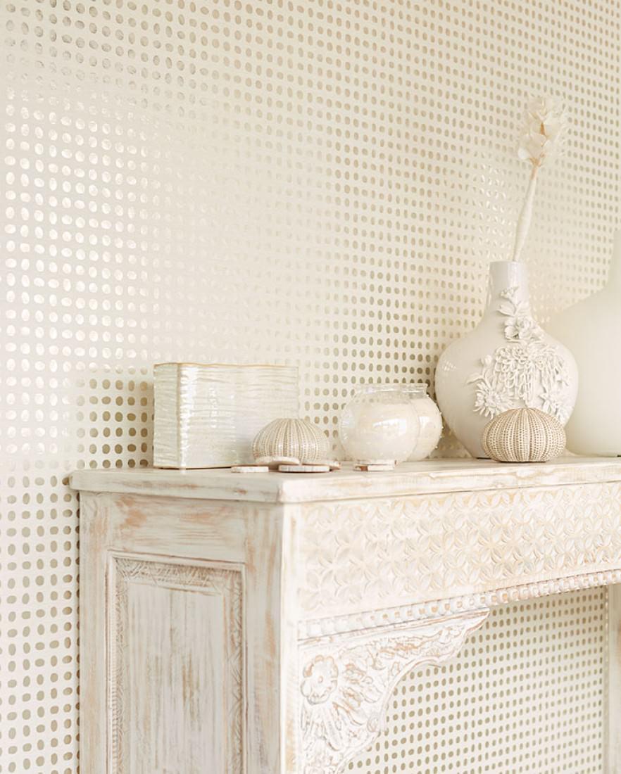 tapete marceline creme cremeweiss silber metallic. Black Bedroom Furniture Sets. Home Design Ideas