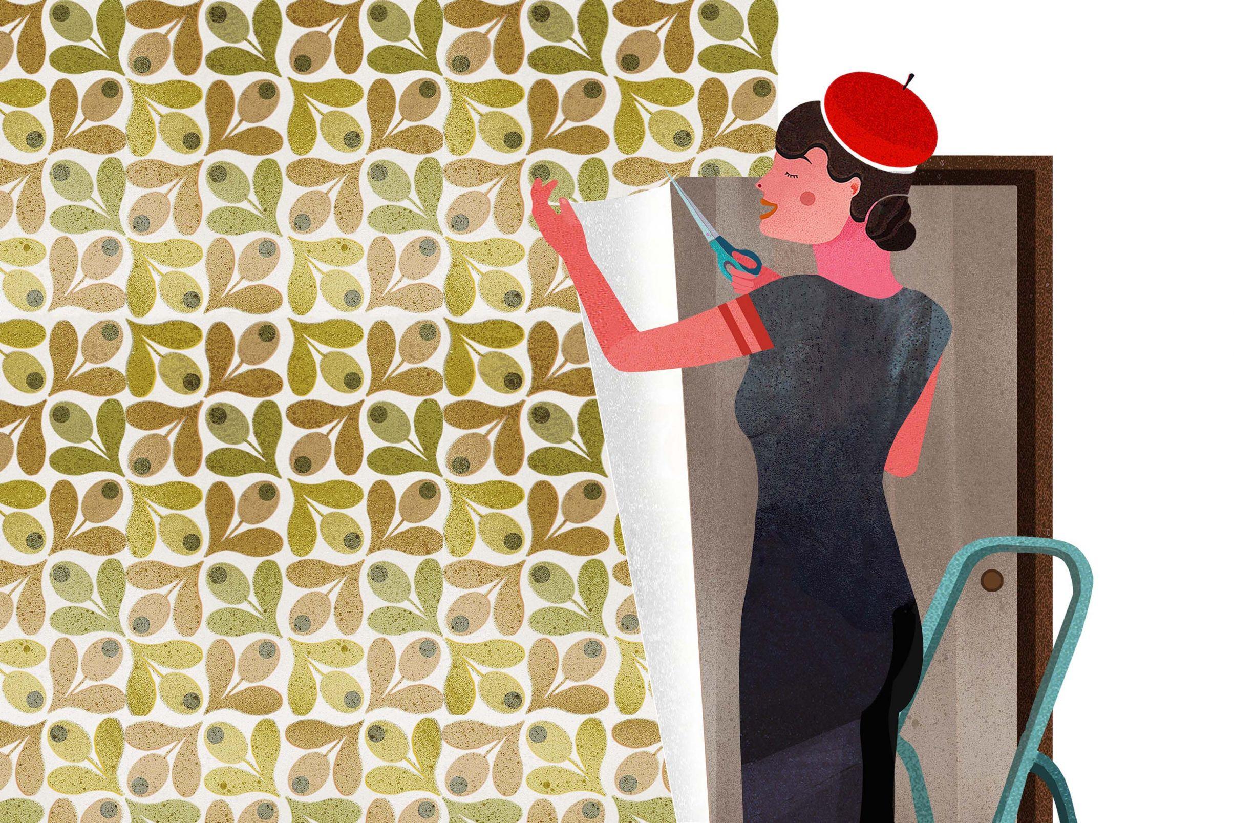 Como-aplicar-papel-de-parede-ao-redor-de-janelas-e-portas-Aplicar-papel-de-parede-ao-redor-da-porta-com-uma-sobra-e-colocar-os-cortes-corretos-nos-cantos