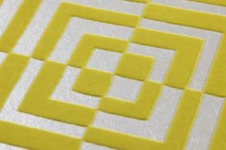 Wallpaper Nirvana Matt pattern Shimmering base surface Graphic elements Silver Yellow green