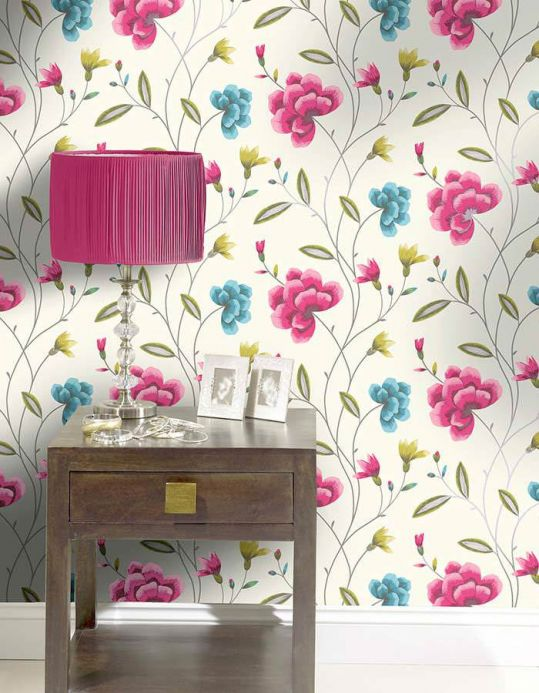 Archiv Wallpaper Madelaine pink Room View