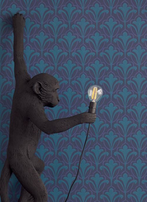 Papel de parede Papel de parede Cassia azul oceano Ver quarto