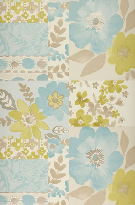 Archiv Wallpaper Farina pastel turquoise Roll Width
