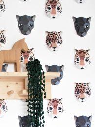 Tapete Panthera 01 Cremeweiss