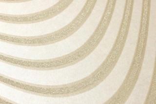 Tapete Megaira Muster glänzend Untergrund schimmernd Wellen Weissgold Gold Glanz Perlbeige