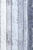 Wallpaper Old Planks Matt Old wooden boards Pale blue Cream Grey blue
