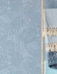 Papel de parede Persephone azul pastel cintilante