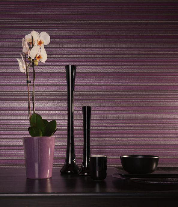 Archiv Papel pintado Merletto violeta carmesí Ver habitación