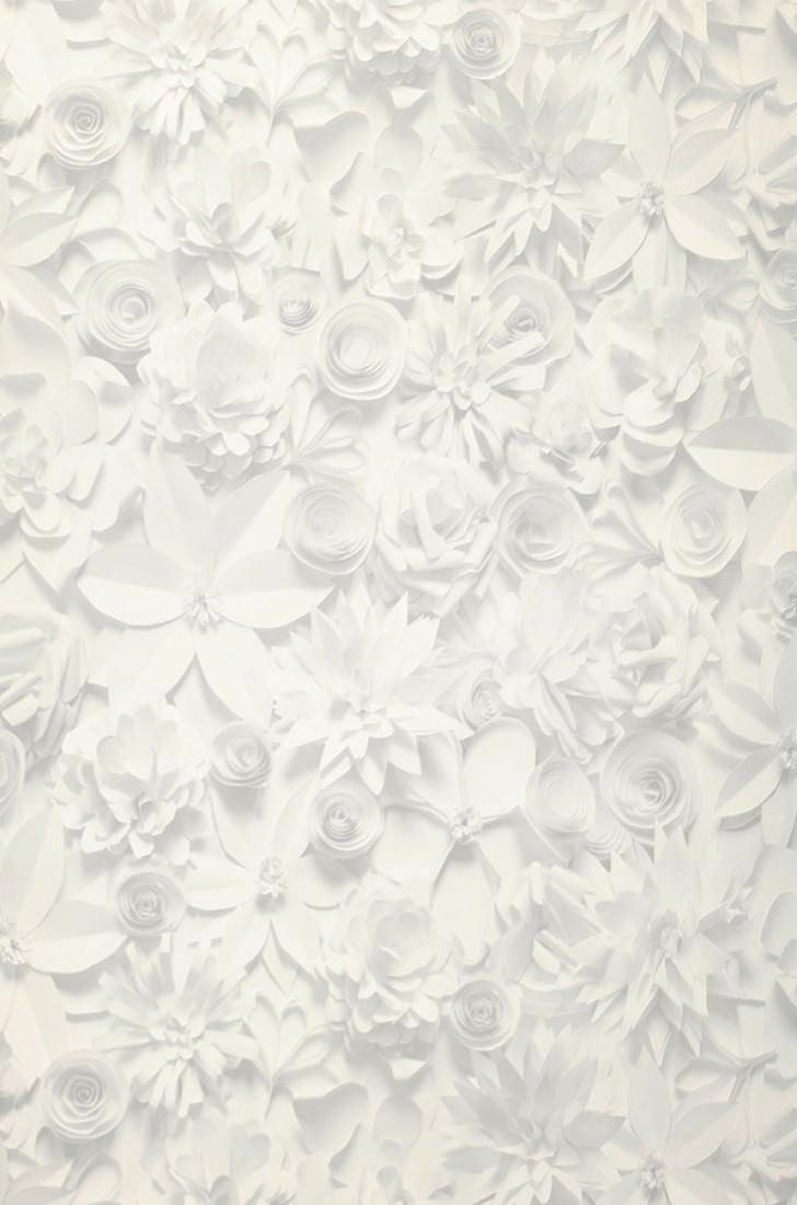 Carta da parati 3d blossoms grigio pallido bianco crema for Parati 3d prezzi