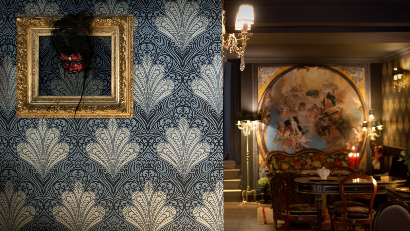 When Beauty grows from Monotony: Wallpapers meet Maximalism