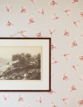 Carta da parati Arletta Opaco Fioritura Punti Crema Rosso beige Beige grigiastro Rosa chiaro Marrone rossastro