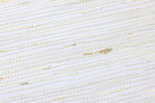 Tapete Grasscloth 03 Weiss Detailansicht