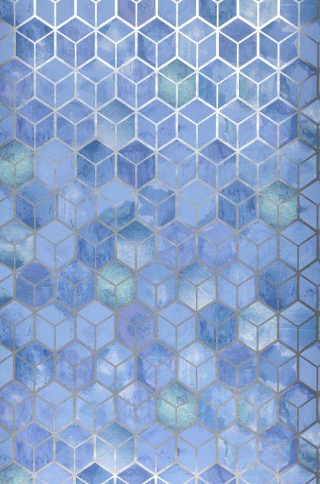 Carta da parati geometrica Carta da parati Casimir blu pastello Larghezza rotolo