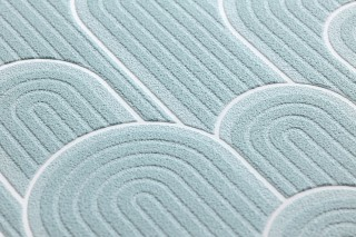 Wallpaper Fanti Matt Bends White Pastel turquoise