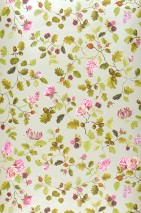 Wallpaper Rina Matt Leaves Blossoms Fruits Cream Claret violet Heather violet Yellow green Yellow olive