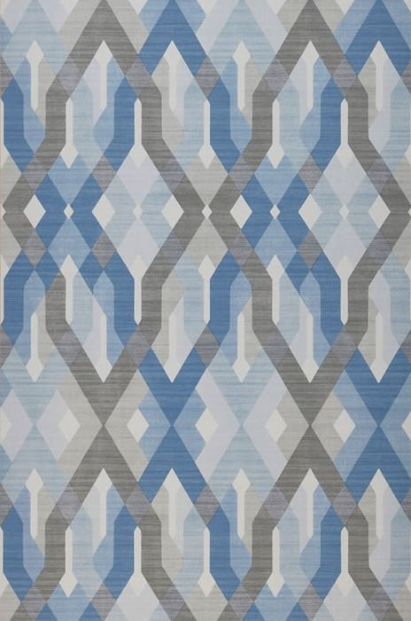 Wallpaper Karus Matt Geometrical elements Cream Blue Grey Light blue