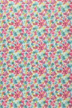 Wallpaper Marielle Matt Blossoms White Heather violet Yellow green Light blue Turquoise blue