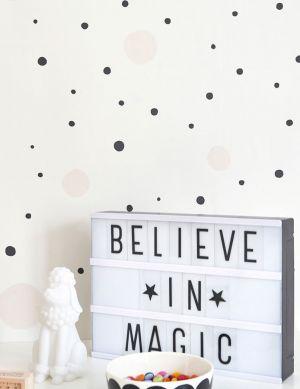 Papel de parede Confetti branco creme Ver quarto