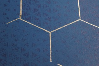 Wallpaper Hadeggo Matt Triangles Hexagons Green blue Dark blue Matt gold