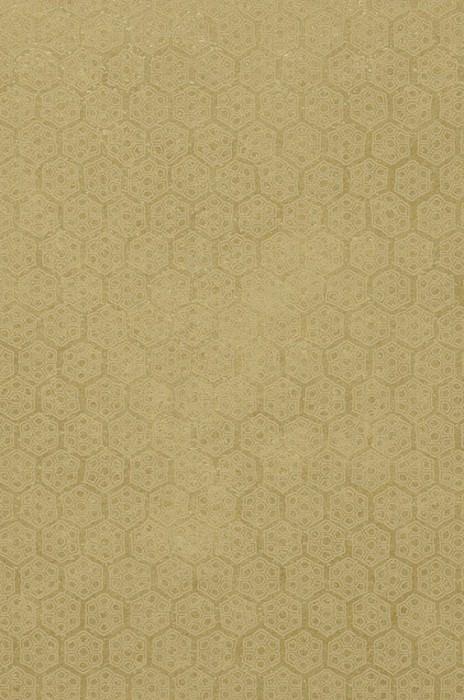 Wallpaper Imana Matt pattern Shimmering base surface Geometrical elements Hexagons Olive yellow Green beige