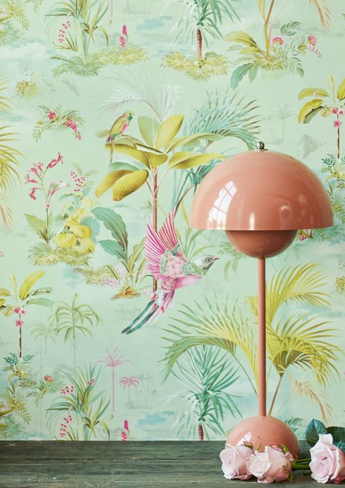 New arrivals! Wallpaper Fairyland light green Room View