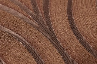 Wallpaper Tirion Shimmering Ellipses Dark brown Copper brown