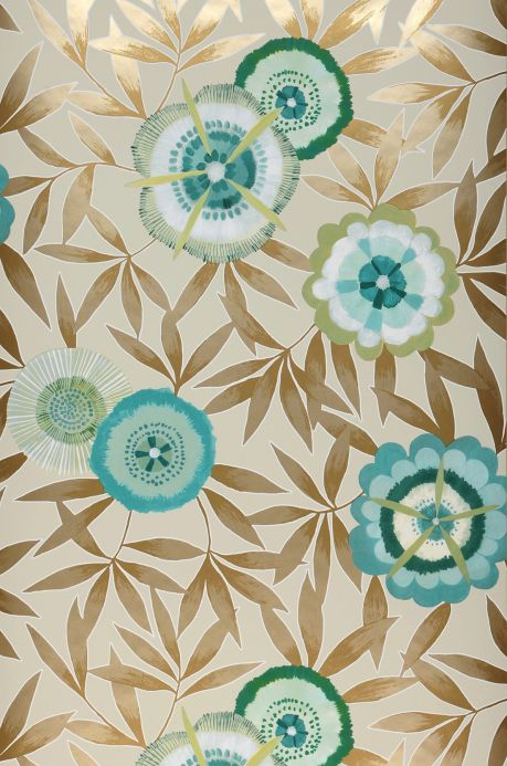 Turquoise Wallpaper Wallpaper Sefina turquoise blue Roll Width