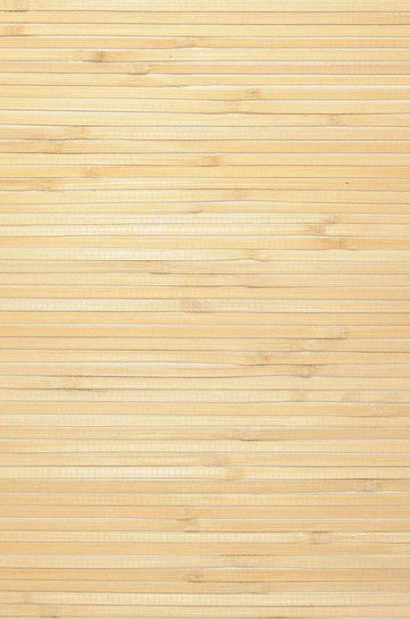 Natur Tapeten Tapete Natural Bamboo 03 Sandgelb A4-Ausschnitt
