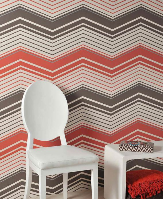 Archiv Wallpaper Tamino red orange Room View