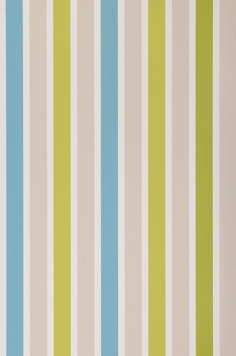Wallpaper Alva Matt Stripes Cream Yellow green Light grey beige Turquoise blue