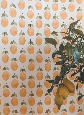 Papel de parede Henriette amarelo ouro Raumansicht