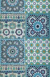 Wallpaper Azulejos turquoise blue
