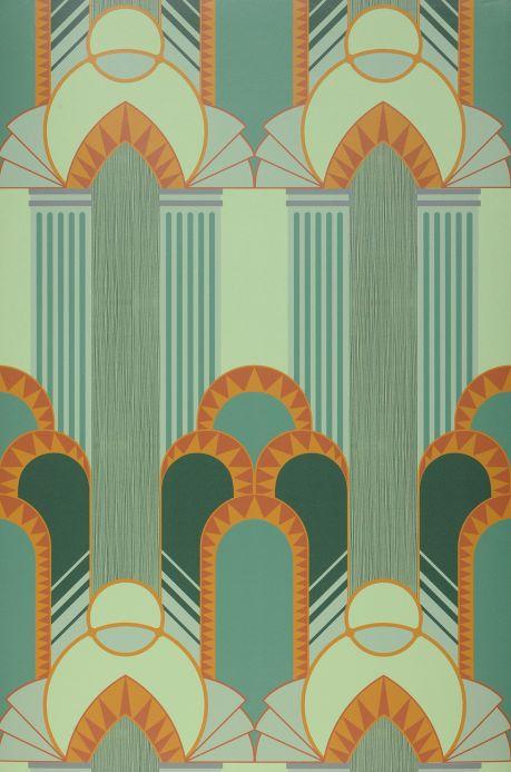 Art Deco Tapeten Tapete Gatsby Patinagrün Bahnbreite