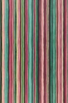 Papel pintado Zeno Mate Rayas Color burdeos Verde Rosa Violeta rojizo