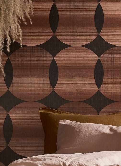 Geometric Wallpaper Wallpaper Kasavu copper shimmer Room View