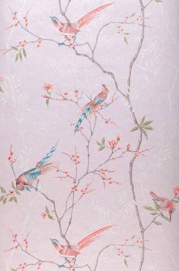 Papier peint Comtesse rosé pâle Largeur de lé