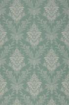 Wallpaper Ikena Matt Floral damask Mint green Dark green Pebble grey